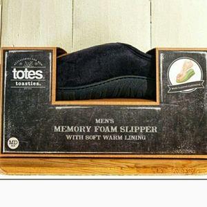 🎀 New Men's Totes Memory Foam Slippers Med 8 - 9
